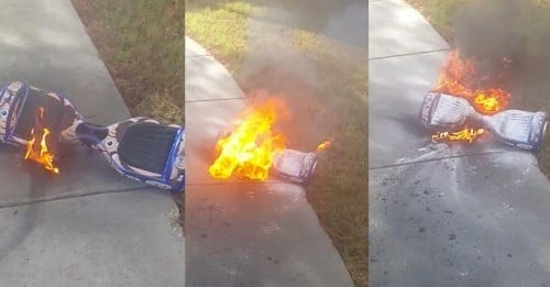 cheap hoverboard fire