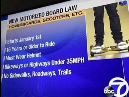 Hoverboard Law 2016